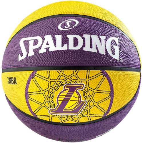 Ballon de basket ACCESSOIRES SPALDING NBATEAM LA LAKERS T.7