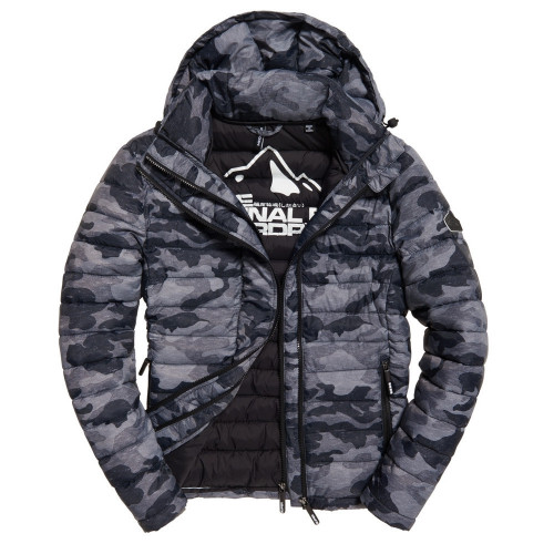 Doudoune HOMME SUPERDRY PRINTED FUJI DOUBLE ZIPHOOD