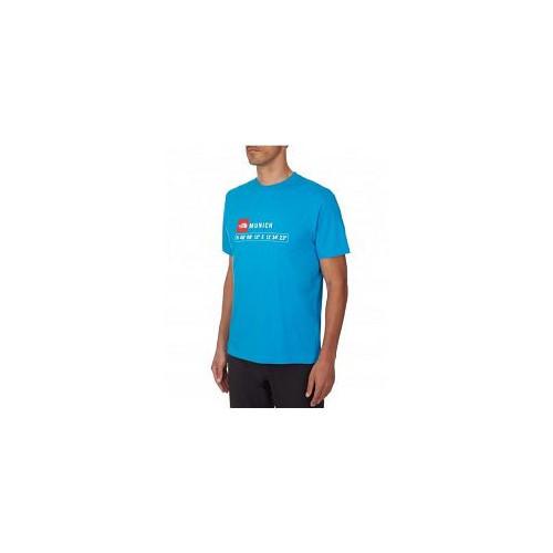 Tee-shirt HOMME THE NORTH FACE M SS MUNICH ST TEE TECH BLUE