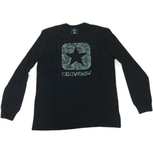 Sweat HOMME CONVERSE QUILTED PANEL BOX STAR CREW