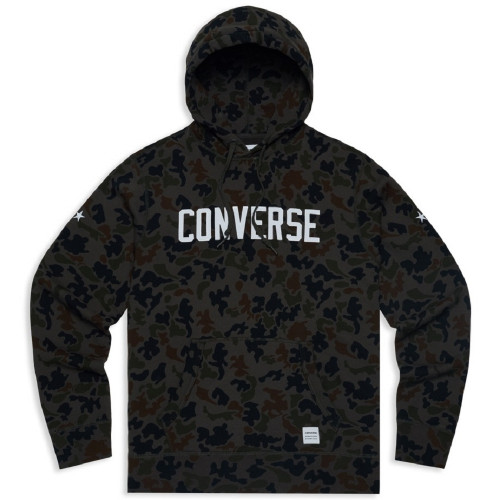 Sweat HOMME CONVERSE ESSENTIALS CAMO GRAPHIC PULLOVER HOODIE